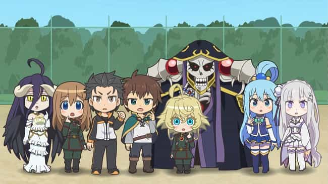 Isekai Quartet is listed (or ranked) 3 on the list The 13 Best Crossover Anime of All Time