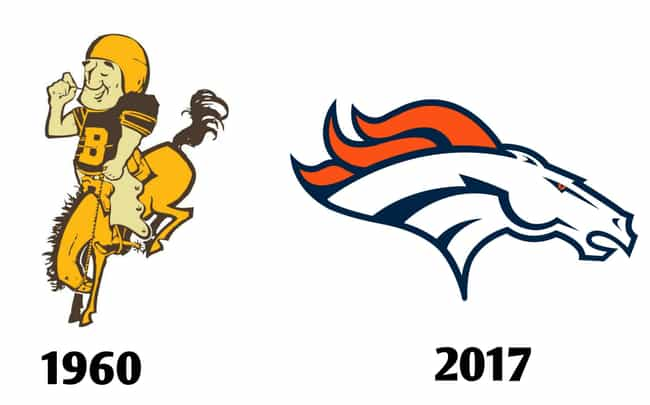 Denver Broncos is listed (or ranked) 1 on the list The Fascinating Evolution Of Sports Team Logos