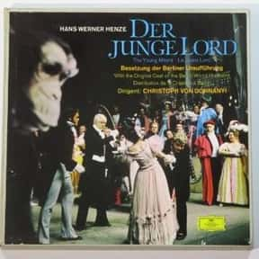 Der junge Lord is listed (or ranked) 10 on the list List of Comic opera Operas