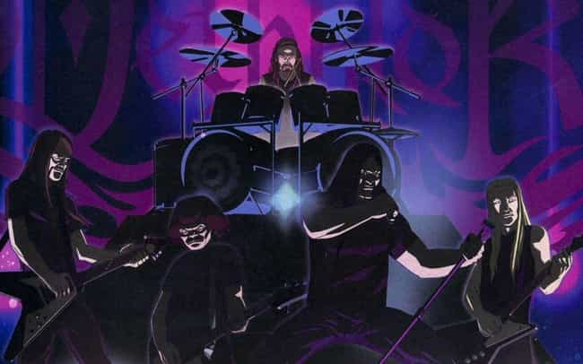Dethklok is listed (or ranked) 1 on the list Fictional Metal Bands That Are More Metal Than Real Metal Bands