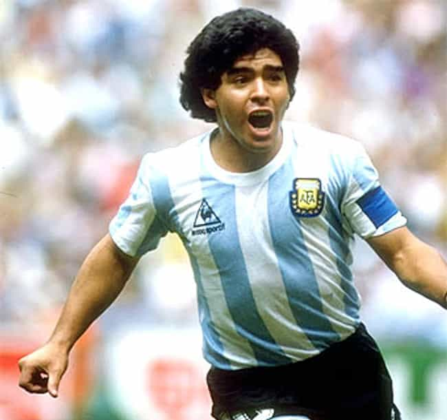 Diego Maradona is listed (or ranked) 4 on the list Famous Male Football Players