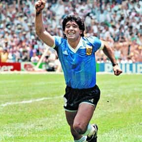 Diego Maradona is listed (or ranked) 4 on the list List of Famous Footballers