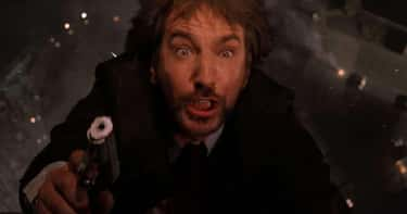 Alan Rickman, 'Die Hard' - He Was Dropped Earlier Than Expected, So The Terrified Look On His Face Is Real