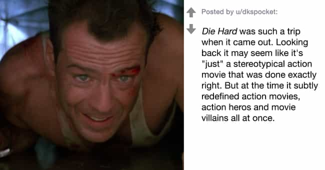 Die Hard is listed (or ranked) 2 on the list People Are Sharing Their Favorite (And Often Underrated) '80s Movies That Still Hold Up