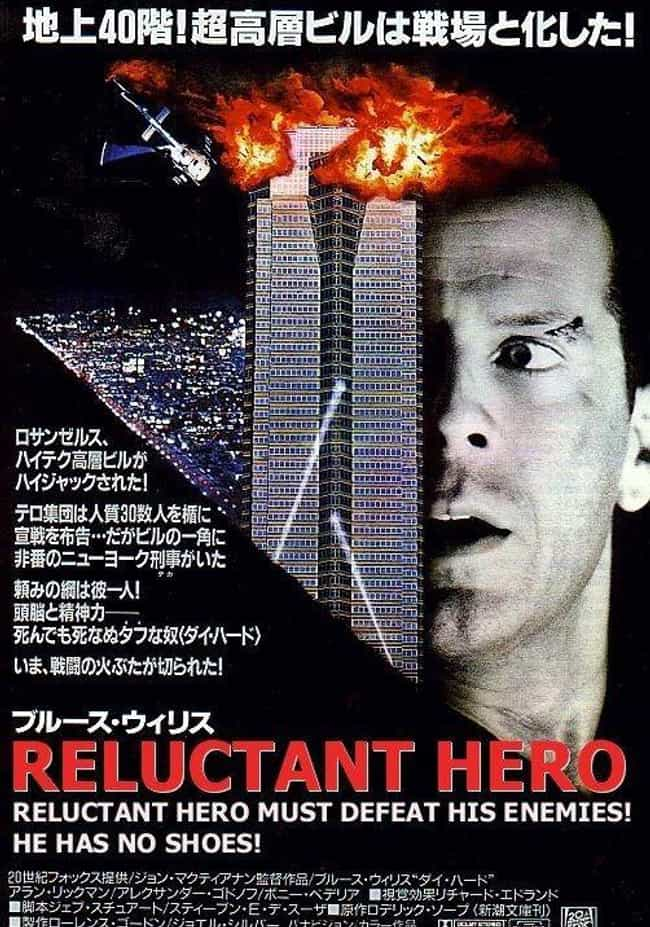 Die Hard is listed (or ranked) 2 on the list 24 Absolutely Ridiculous Foreign Posters for American Movies