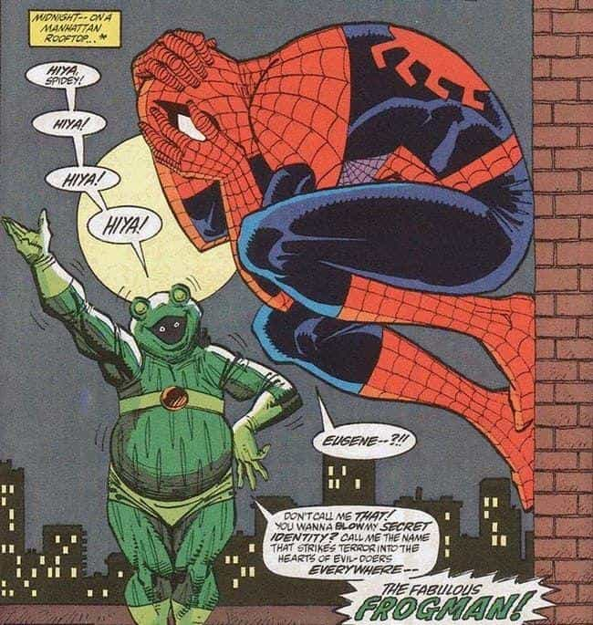 Frog-Man is listed (or ranked) 3 on the list The All Time Lamest Spider-Man Villains