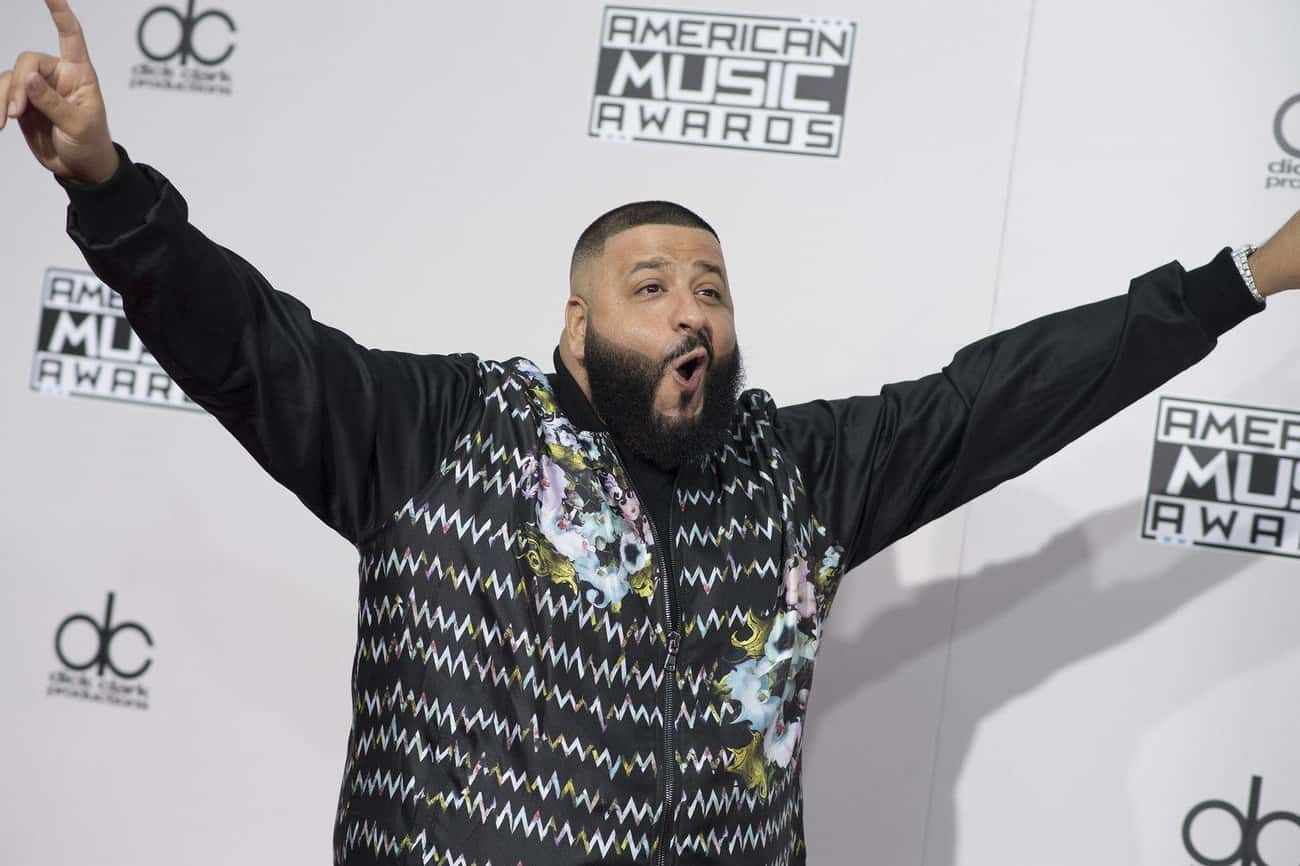 DJ Khaled Spilled The Beans On is listed (or ranked) 1 on the list Celebs Who Have Aced Hiding Their Secret Social Media Accounts