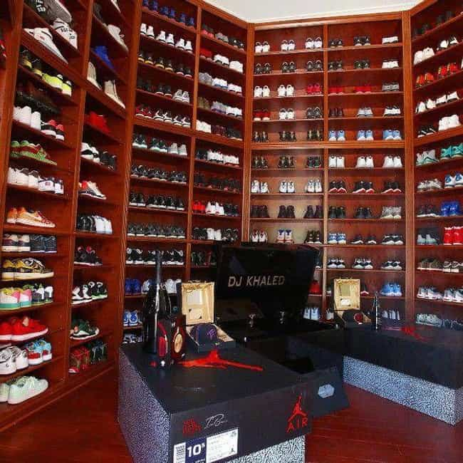 DJ Khaled is listed (or ranked) 4 on the list 19 Celebrities Whose Shoe Collections Are Completely Out of Control
