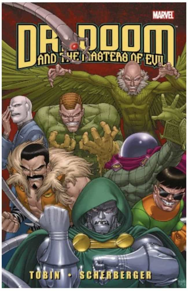 Doctor Doom is listed (or ranked) 4 on the list The Smartest Characters in Comic Books