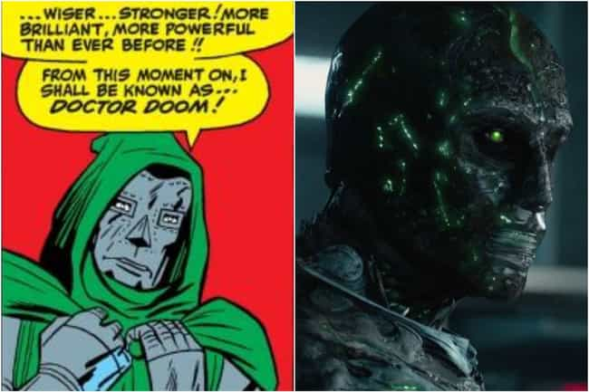 Doctor Doom is listed (or ranked) 4 on the list Marvel Characters Whose Comic Book Origin Stories Are Way More Upsetting Than The Movies Portrayed