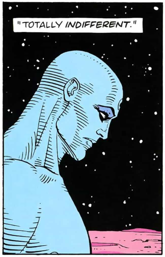 Doctor Manhattan is listed (or ranked) 4 on the list The 12 Most Indestructible Comic Book Characters