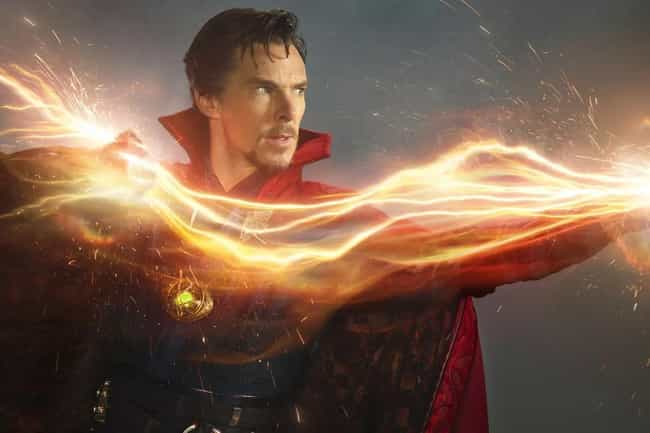 Doctor Strange is listed (or ranked) 3 on the list Which Fictional Wizard Would Win In A Magical Mega-Duel?