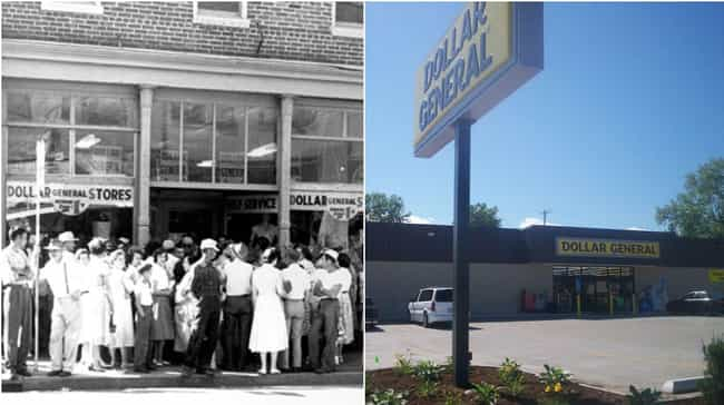 Dollar General is listed (or ranked) 2 on the list How Storefronts Evolved Over Time