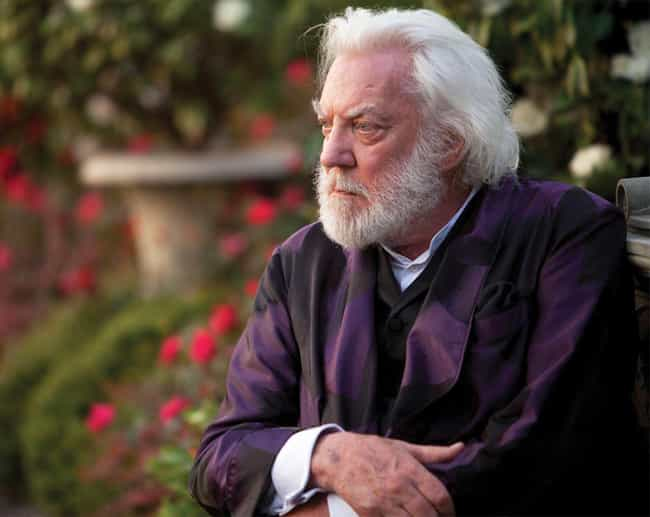 Donald Sutherland is listed (or ranked) 3 on the list What The Hunger Games SHOULD Have Looked Like In The Movies