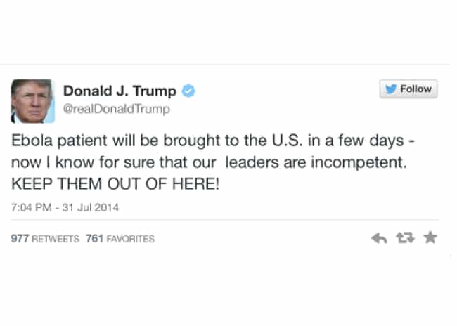 Donald Trump is listed (or ranked) 2 on the list The Most Outrageous Celebrity Tweets of 2014