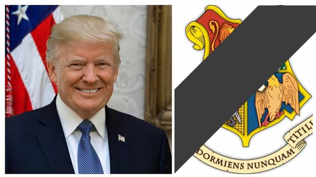 Donald Trump is listed (or ranked) 3 on the list Which Hogwarts Houses Would Celebrities Be Sorted Into?