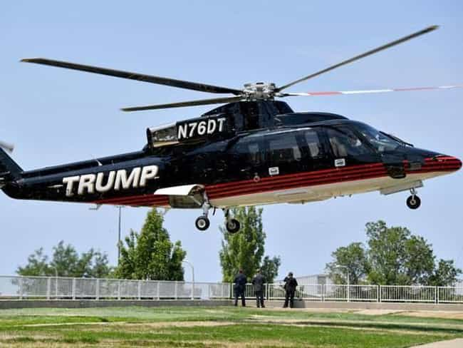 Donald Trump is listed (or ranked) 2 on the list Celebrities Who Own Helicopters