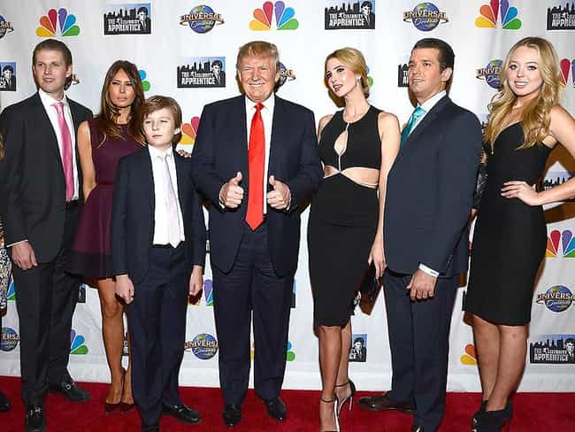 Donald Trump is listed (or ranked) 1 on the list 17 Celebrities with Kids Born Decades Apart