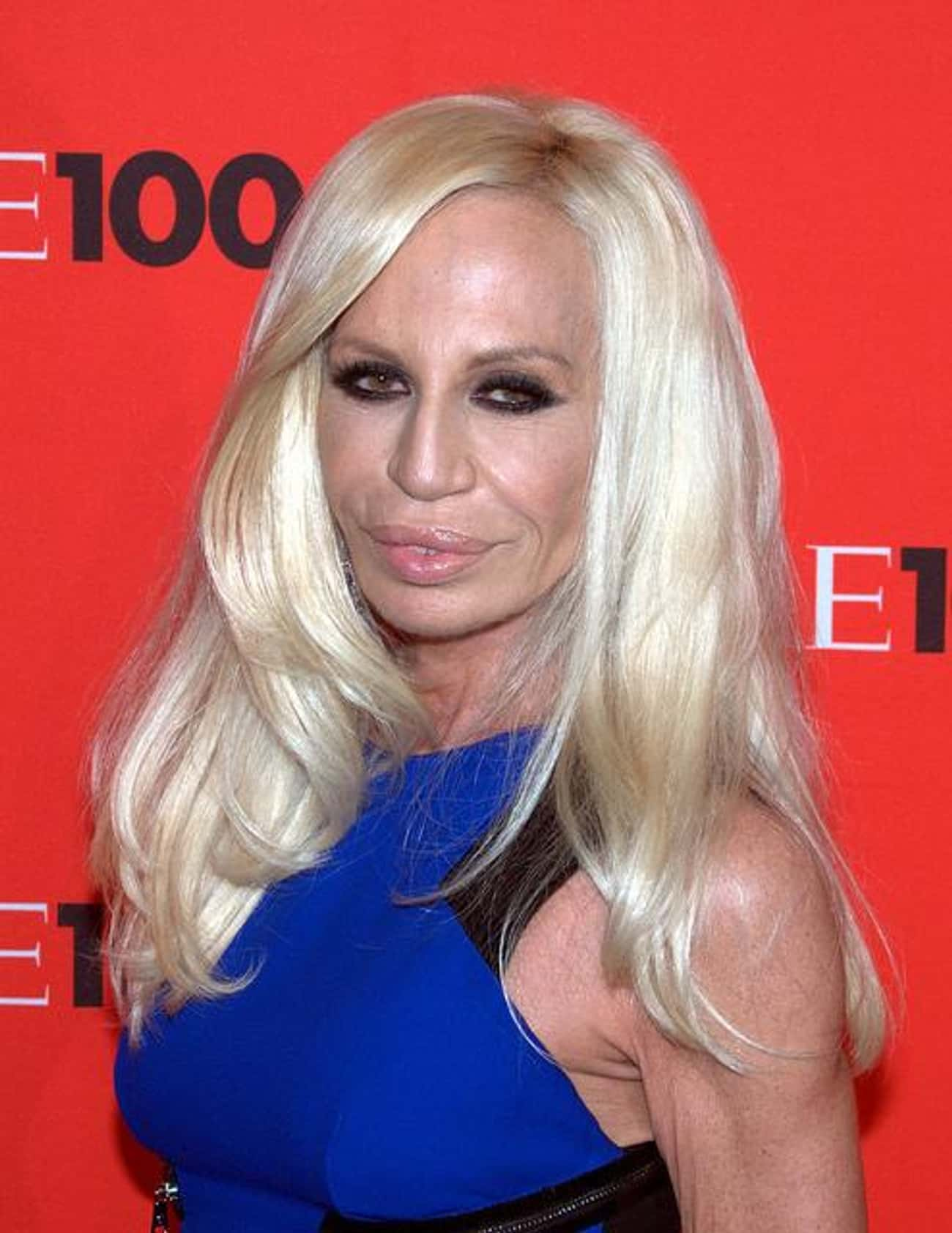 Donatella Versace is listed (or ranked) 2 on the list Women Who Jonathan Rhys Meyers Has Dated