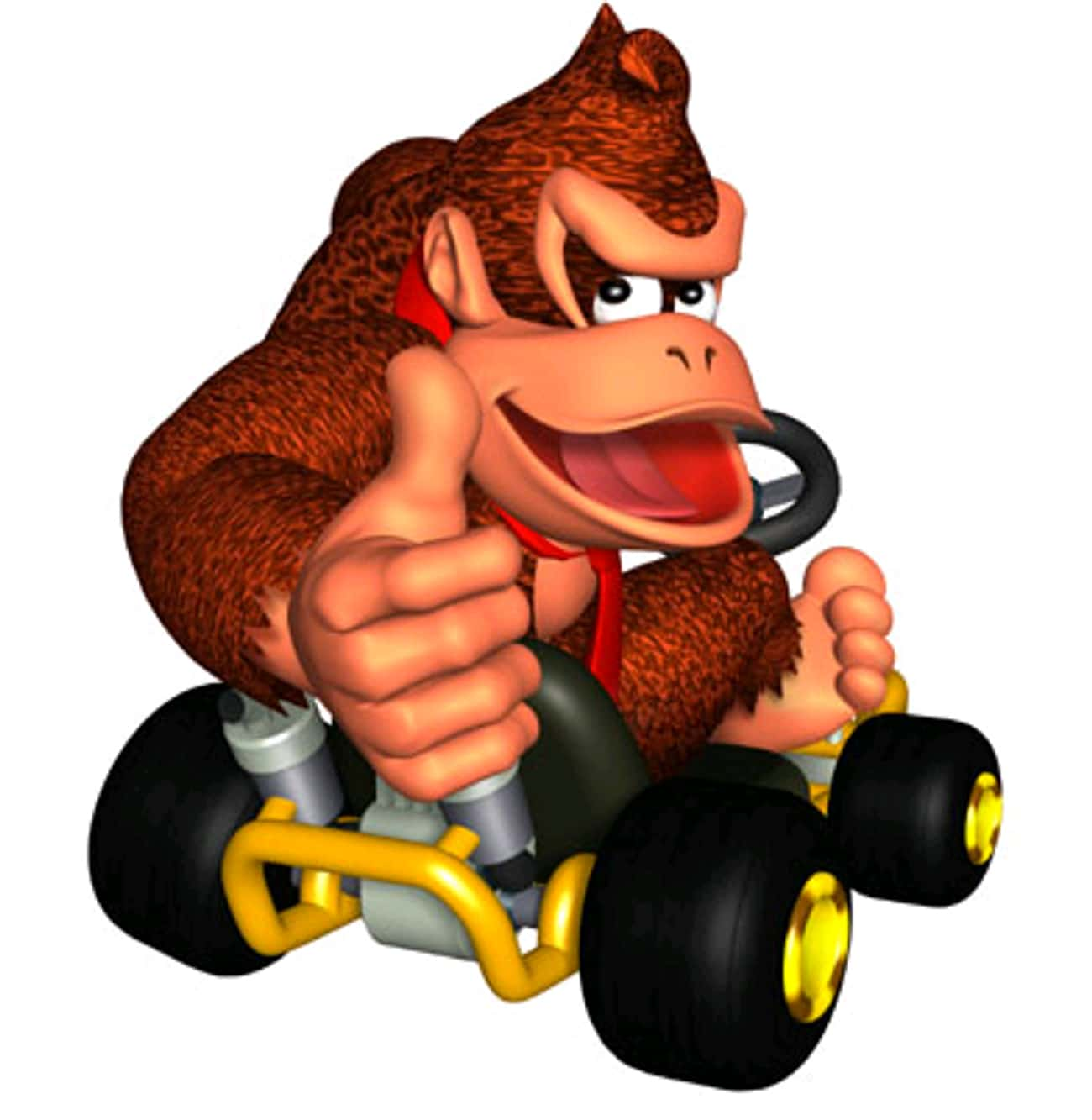 Donkey Kong is listed (or ranked) 4 on the list What Your Favorite 'Mario Kart' Character Says About You