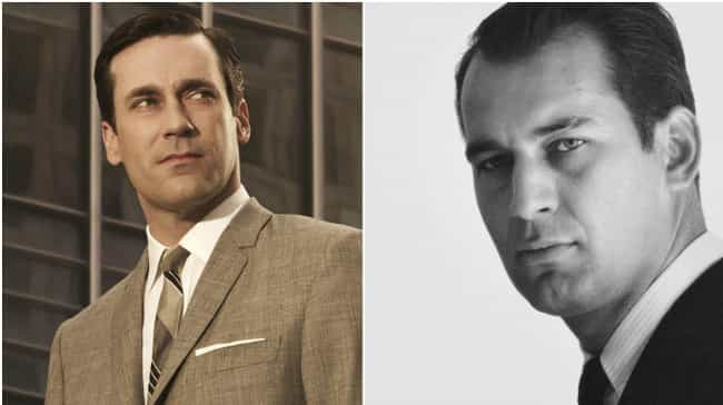 Don Draper is listed (or ranked) 3 on the list 29 Popular TV Characters Who Were Based on Real People