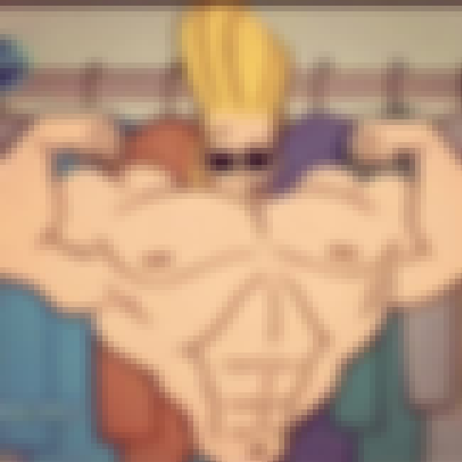 Johnny Bravo is listed (or ranked) 4 on the list 20 Characters Whose Body Proportions Would Probably Kill Them