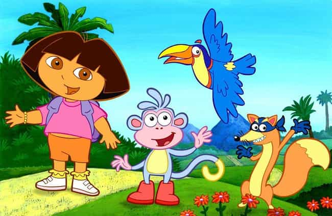 Dora the Explorer is listed (or ranked) 4 on the list 10 Kids Movies and TV Shows That Terrify Conservatives