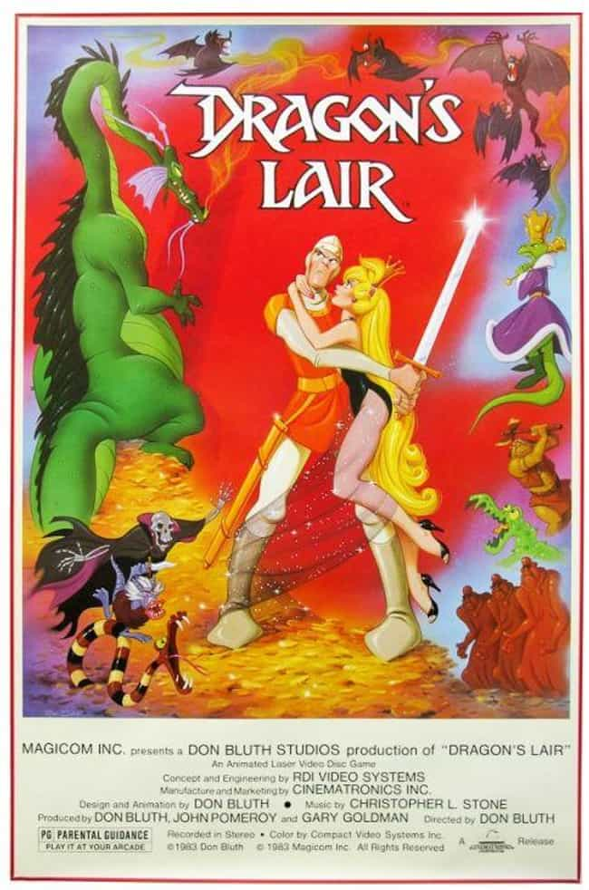 Dragon's Lair is listed (or ranked) 4 on the list What Was The Most Popular Video Game The Year You Were Born?