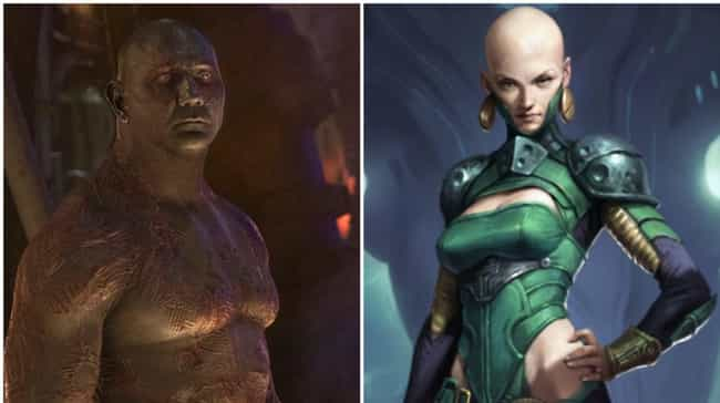 Drax the Destroyer is listed (or ranked) 2 on the list Now That Half The Marvel Universe Has Been Snapped, These Heroes Could Become The New Avengers