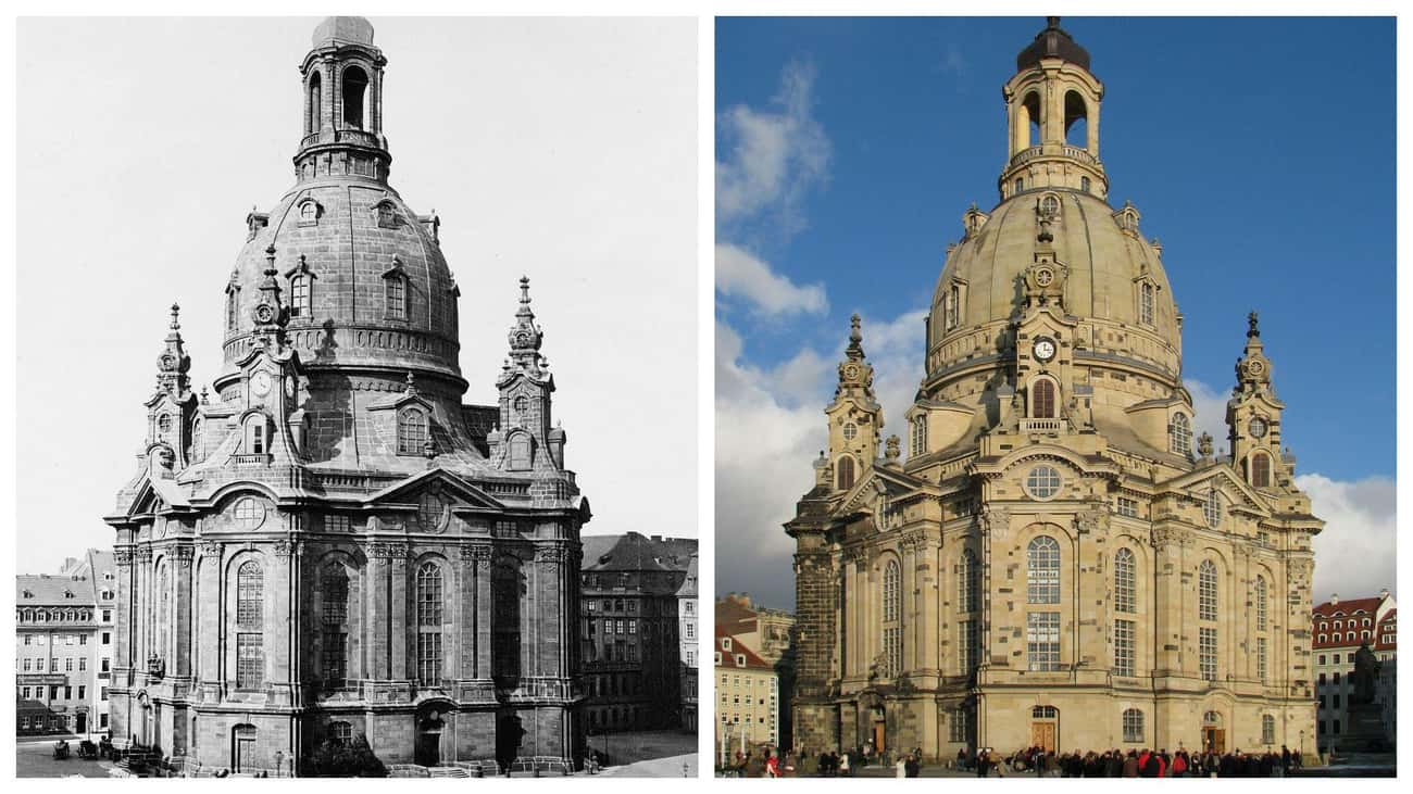 Dresden Frauenkirche In German is listed (or ranked) 1 on the list FamousBuildings That WereRebuilt