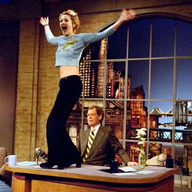 Drew Barrymore is listed (or ranked) 3 on the list Famous Friends of David Letterman