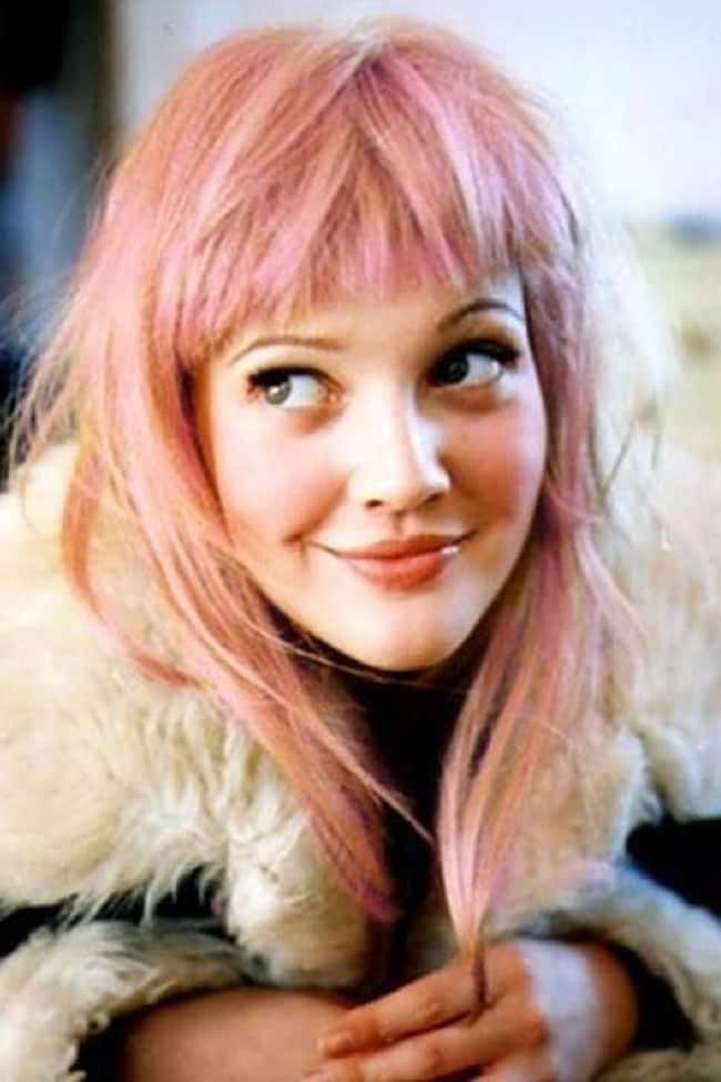 Drew Barrymore is listed (or ranked) 21 on the list Celebrities Rocking Colorful Hair