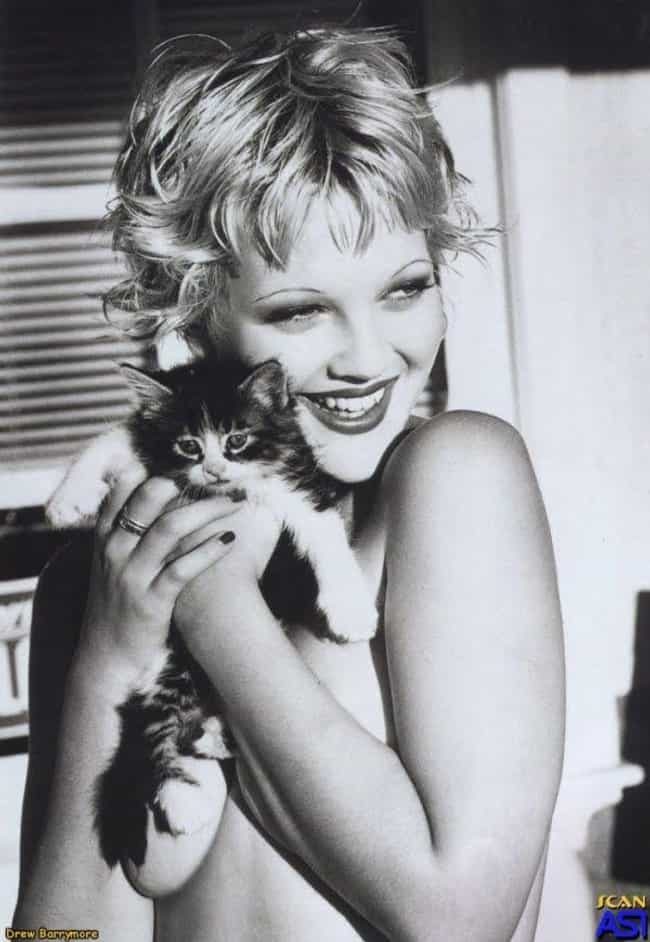 Drew Barrymore is listed (or ranked) 2 on the list 75+ Celebrities Who Are Cat People