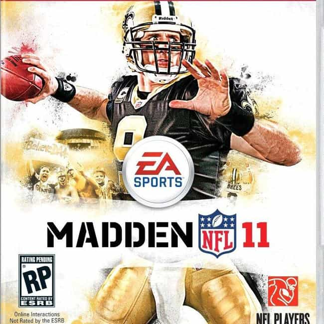 Drew Brees is listed (or ranked) 4 on the list The Best Madden NFL Cover Athletes