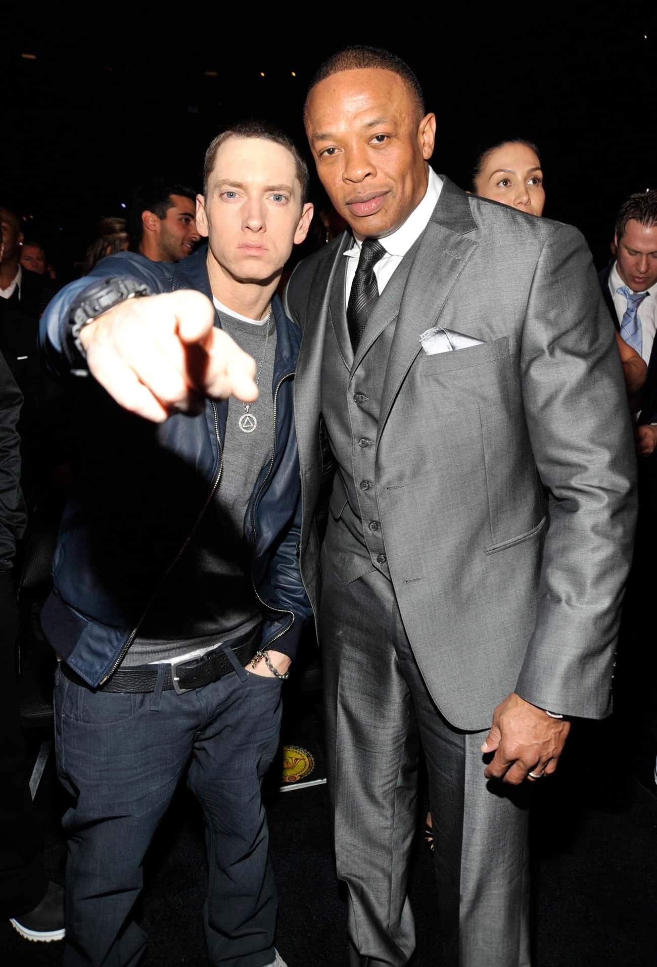 Dr. Dre is listed (or ranked) 1 on the list Famous Friends of Eminem