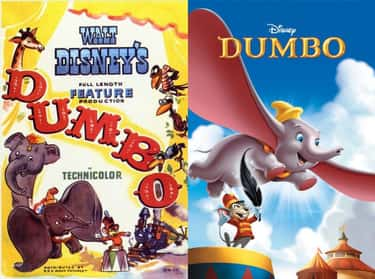 Dumbo is listed (or ranked) 1 on the list 20 Iconic Original Disney Posters VS. Today's Re-Release Covers