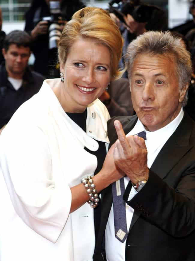 Dustin Hoffman is listed (or ranked) 3 on the list 28 Famous People You Wouldn't Expect Giving the Finger