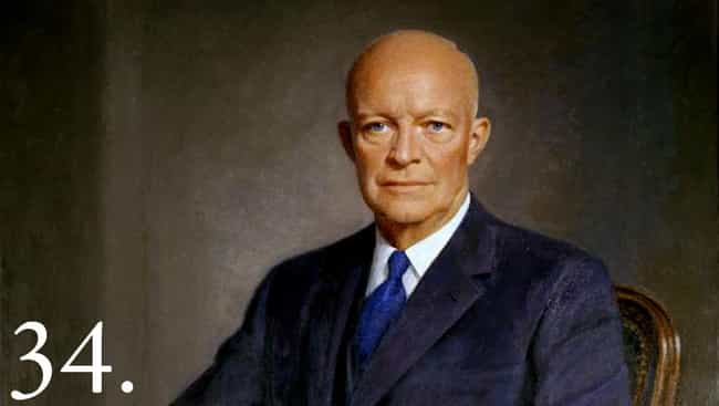 Dwight D. Eisenhower is listed (or ranked) 2 on the list 12 Famous People Who Suffer From Crohn's Disease