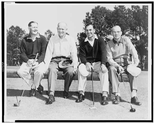 Dwight D. Eisenhower is listed (or ranked) 6 on the list All the Golfing Presidents
