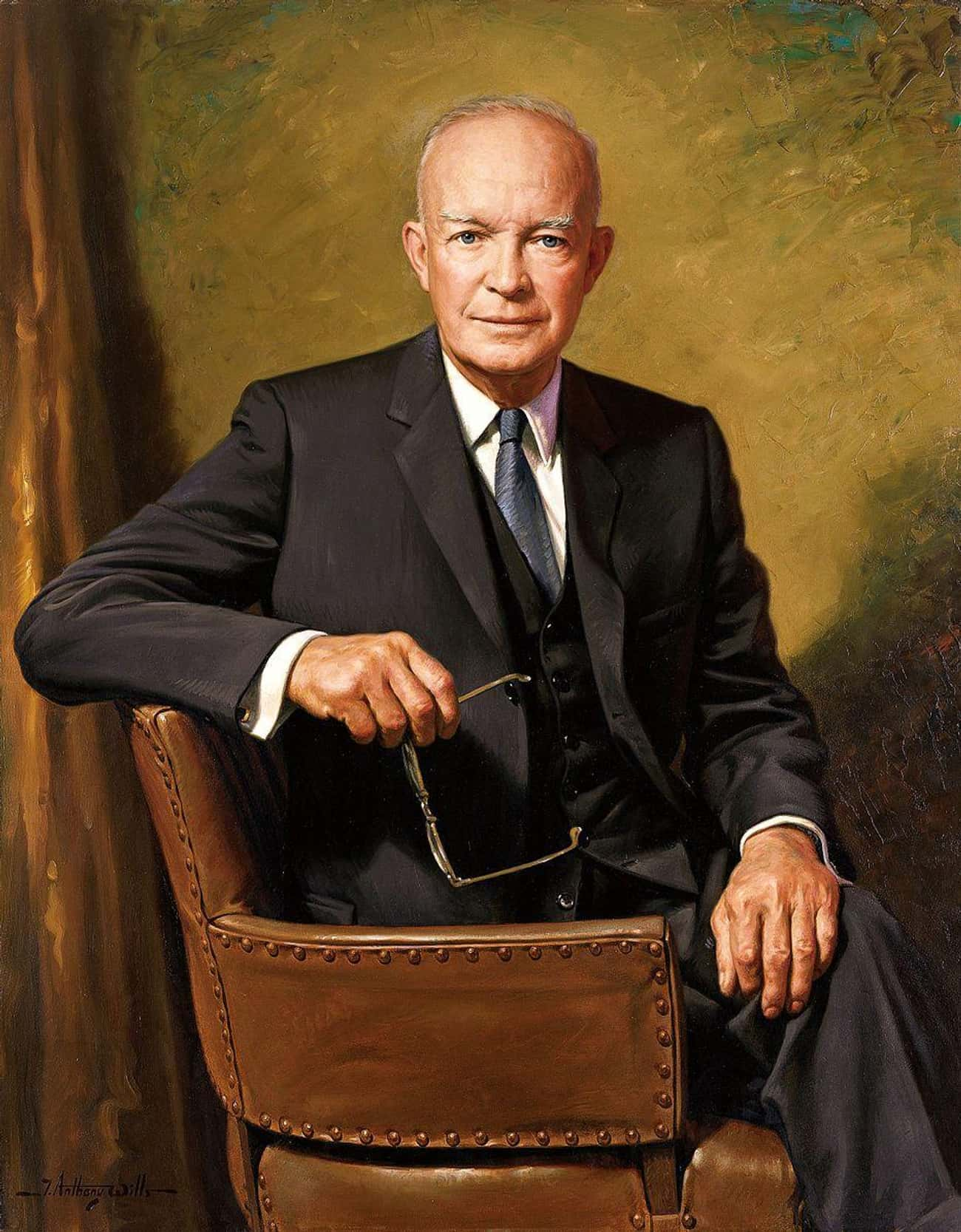 Dwight D. Eisenhower is listed (or ranked) 3 on the list All the Presidential Portraits, Ranked