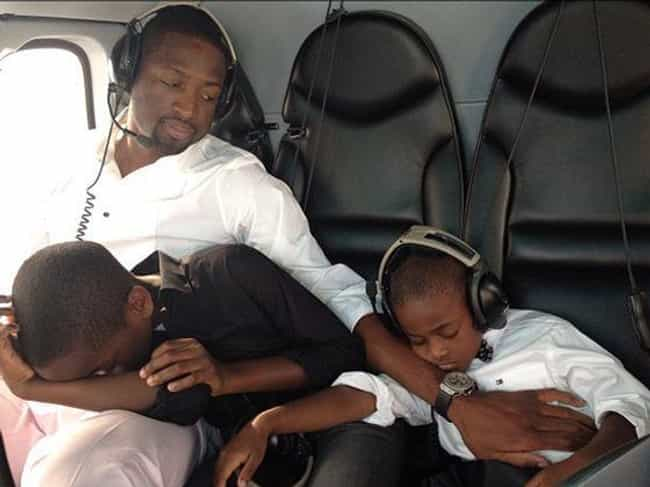 Dwyane Wade is listed (or ranked) 3 on the list Adorable Pictures of NBA Players Caught Being Dads