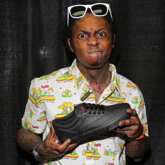 Lil Wayne is listed (or ranked) 2 on the list Rappers Who Have Their Own Lines of Shoes