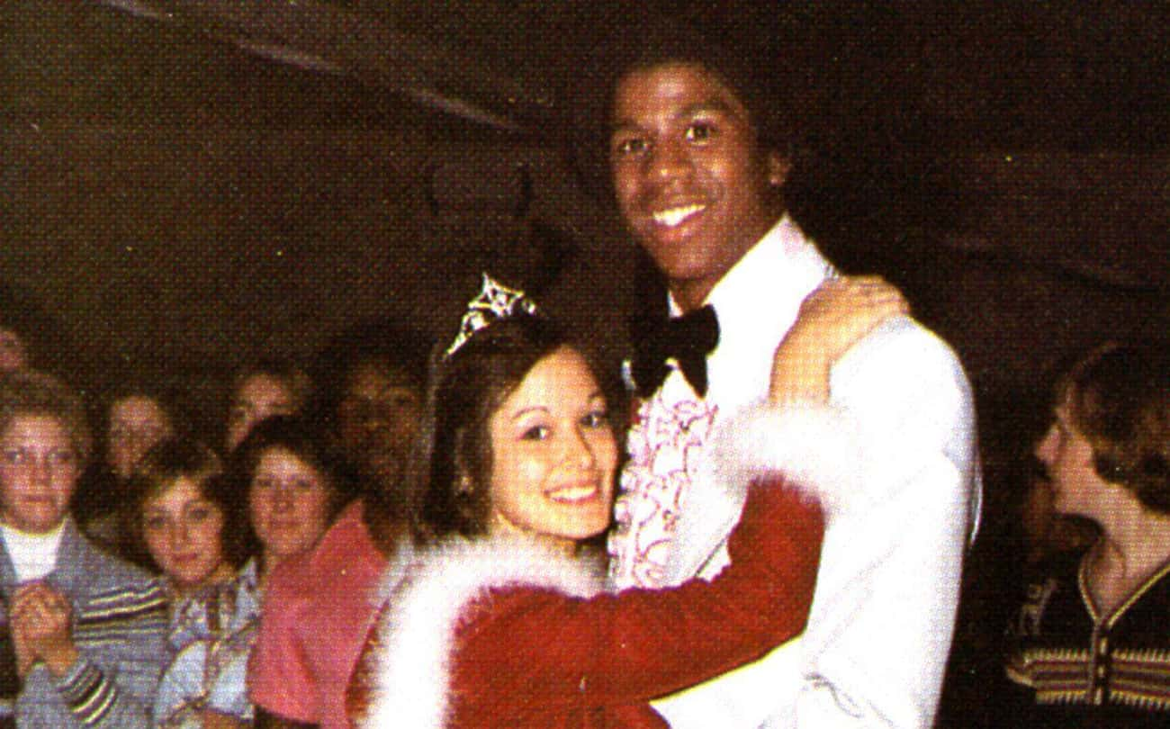 Magic Johnson's Magical Pr is listed (or ranked) 2 on the list Athlete Prom Photos That Prove We All Had an Awkward Phase
