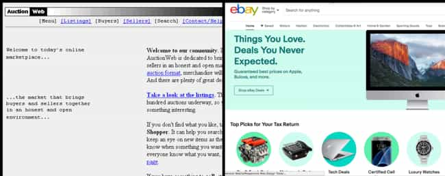 eBay is listed (or ranked) 3 on the list Here's How History's Biggest Websites Evolved Over The Last Decade