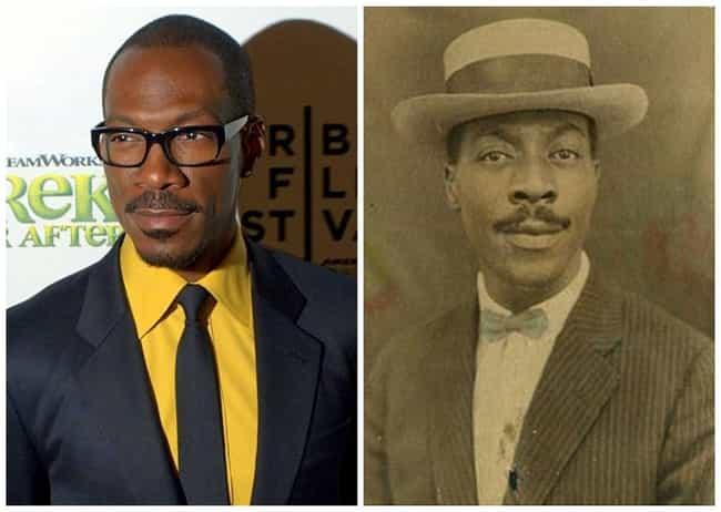 Eddie Murphy is listed (or ranked) 3 on the list 50 Celebrities Who Look Exactly Like People From History