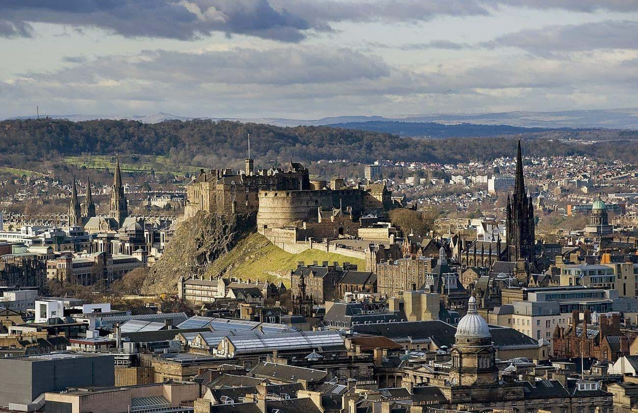 Edinburgh Castle is listed (or ranked) 3 on the list Famous Places Seen From a New Perspective