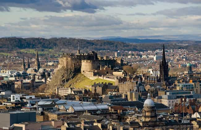 Edinburgh Castle is listed (or ranked) 3 on the list 30+ Famous Places Seen From a New Perspective