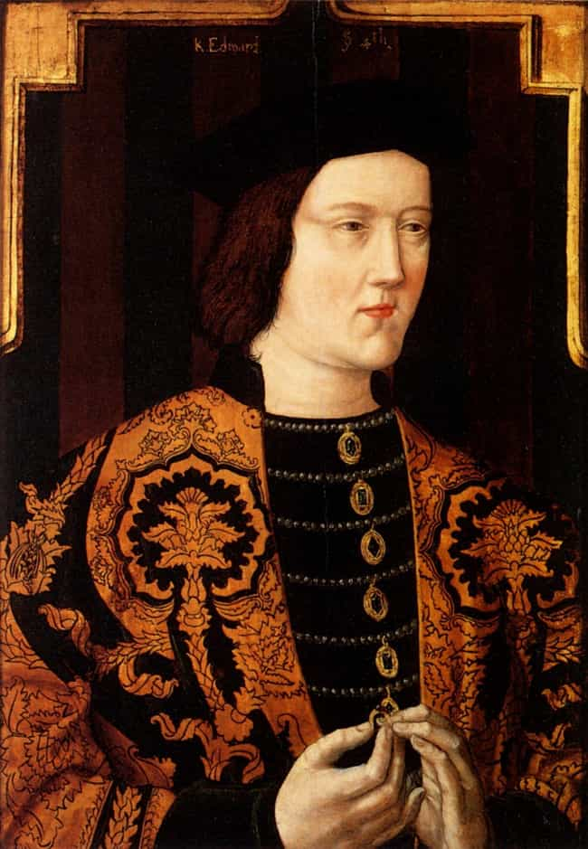 Edward IV of England is listed (or ranked) 2 on the list The Different Physical Sizes Of British Monarchs