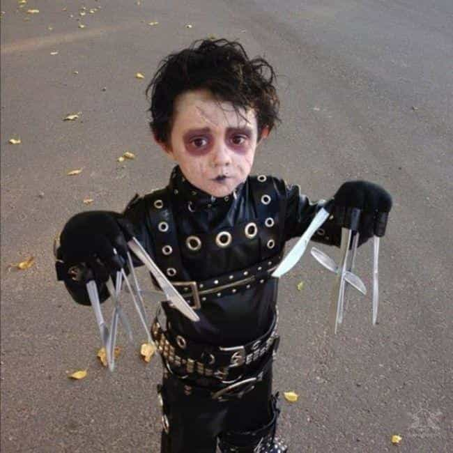 Edward Scissorhands is listed (or ranked) 2 on the list 31 Kids Who Were Forced Into Amazing Halloween Costumes