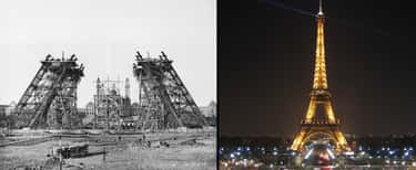 Eiffel Tower (1887 & 2004) is listed (or ranked) 1 on the list Photos Of Historical Landmarks From The Early Days Of Photography Vs. What They Look Like Today
